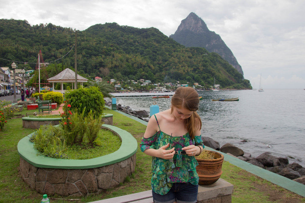 soufriere, saint lucia, nola, monogram gift guide, registering, honeymoon