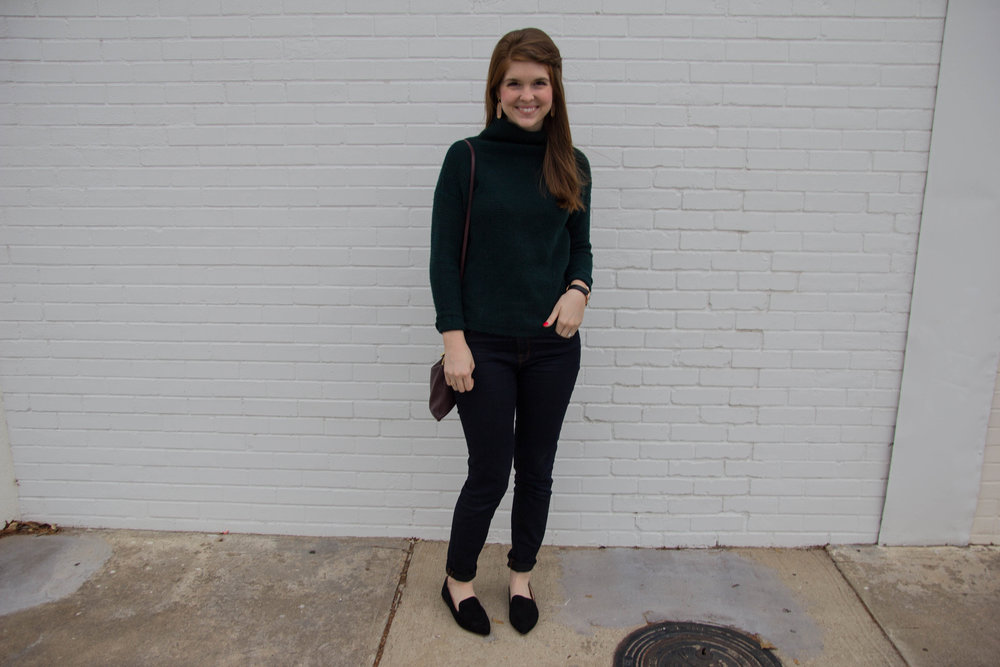 kendra scott lauren earrings, black suede loafers, pantone 2017 color of the year, greenery