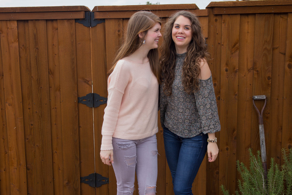 choose joy, aerie, aerie real, american eagle, christina kober designs, inspiRING, march fisher annie wedges, lavender pants, sisters, sister love, gift idea, valentine's day, valentine gift