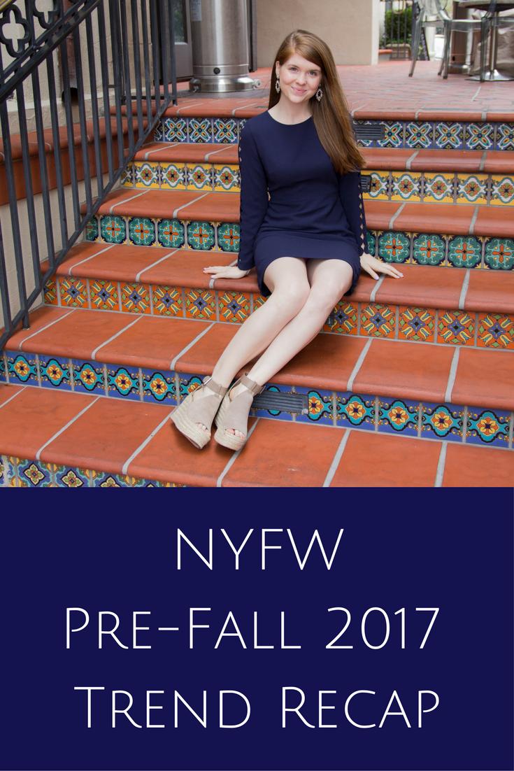 pre-fall trend recap, club monaco, edni dress, laser cuts, marc fisher annie wedges, baublebar earrings, nyfw, new york fashion week,  2017, highland park village