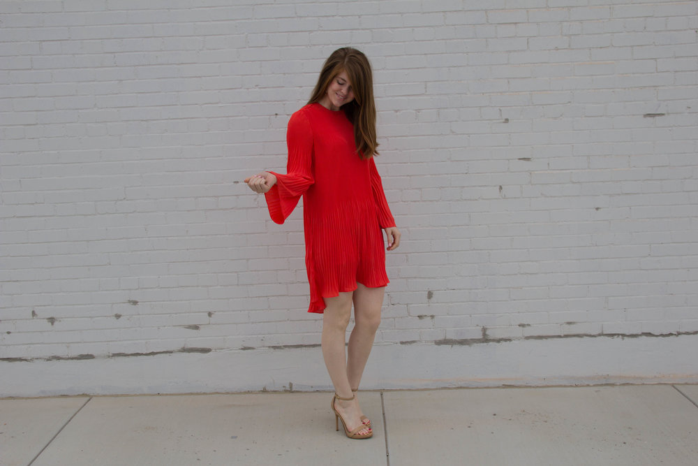 pleated chiffon dress, easter dress guide, sam edelman heels, lenten season, easter