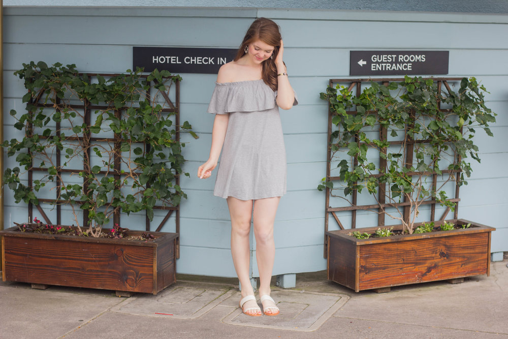 abercrombie dress, dolce vita sandals, where to stay in oakland, the waterfront hotel, joie de vivre hotels, san francisco, california, hotels,  where to stay in san francisco, boutique hotels