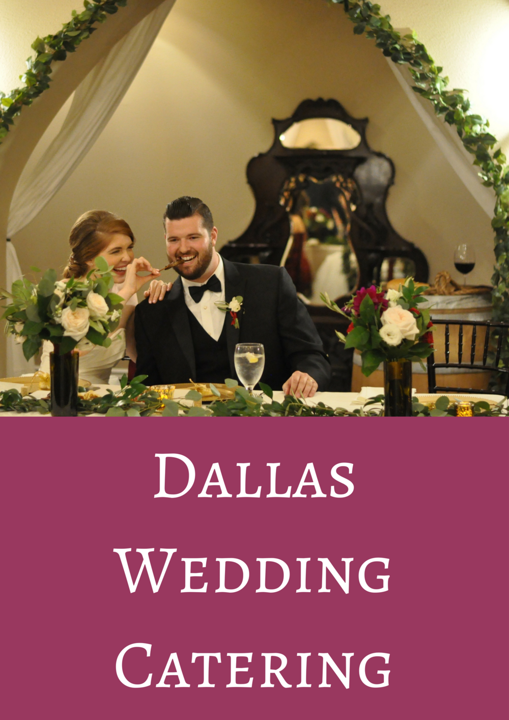 dallas wedding catering, culinary art catering, wedding food, dallas wedding, wedding tips, buffet dinner, plated dinner, stations, the castle at rockwall, married, marriage