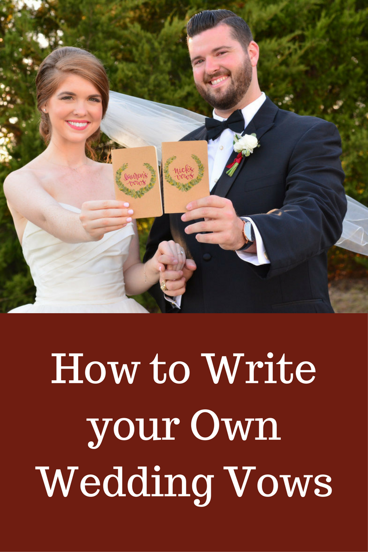 write your own vows The ultimate guide to writing your own wedding vows by kennedy blue october 27, 2017 33 comments when i was getting married just some months ago, one of the most important things to us was that we write our own vows.