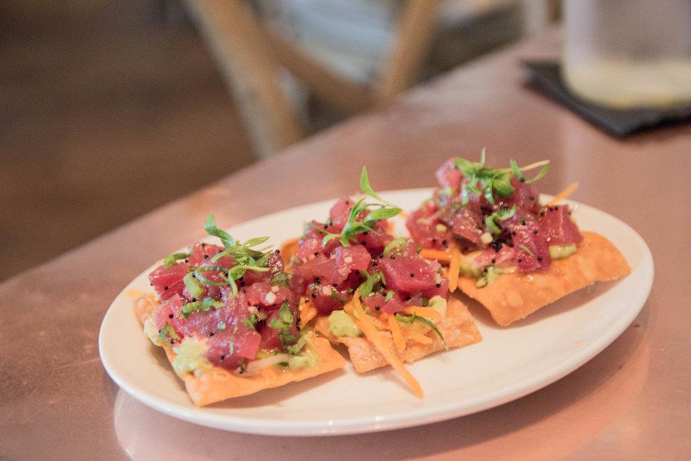tuna crisp, the best restaurant in palm beach, where to eat in palm beach, buccan palm beach