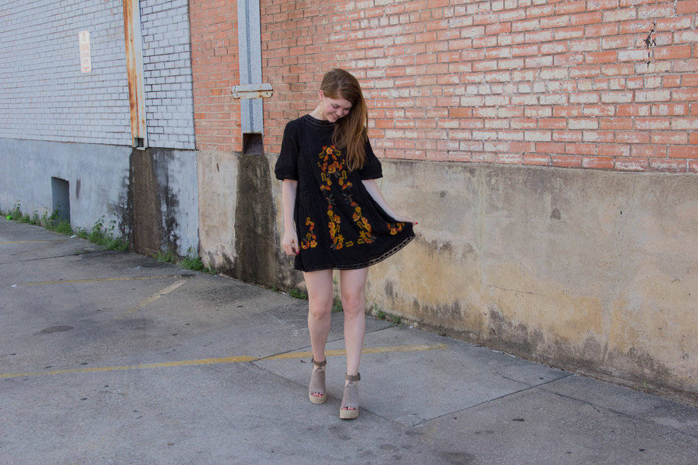 free people perfectly victorian minidress, marc fisher annie wedge, nordstrom anniversary sale, the art of versatility