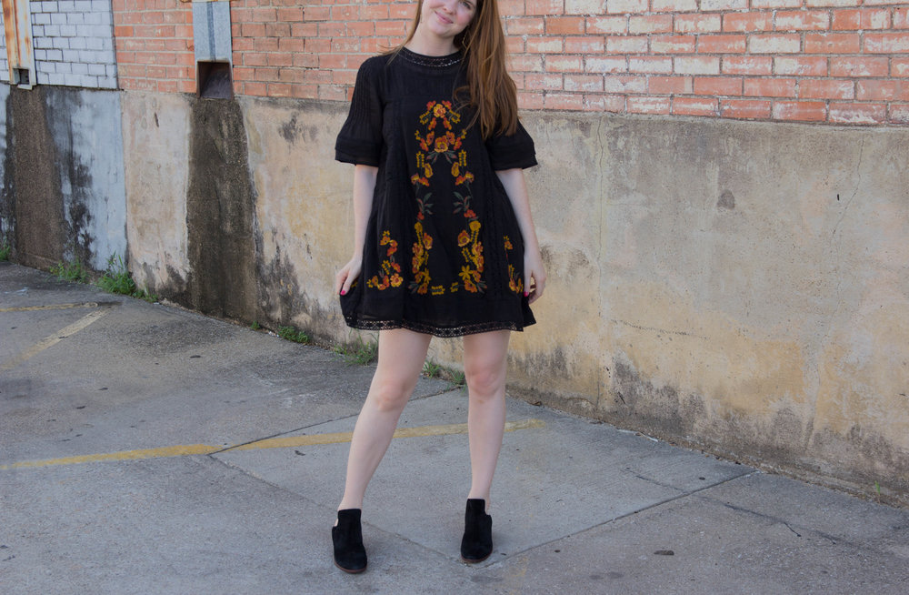 free people perfectly victorian minidress, sam edelman prentice convertible ankle booties, nordstrom anniversary sale 2017. the art of versatility