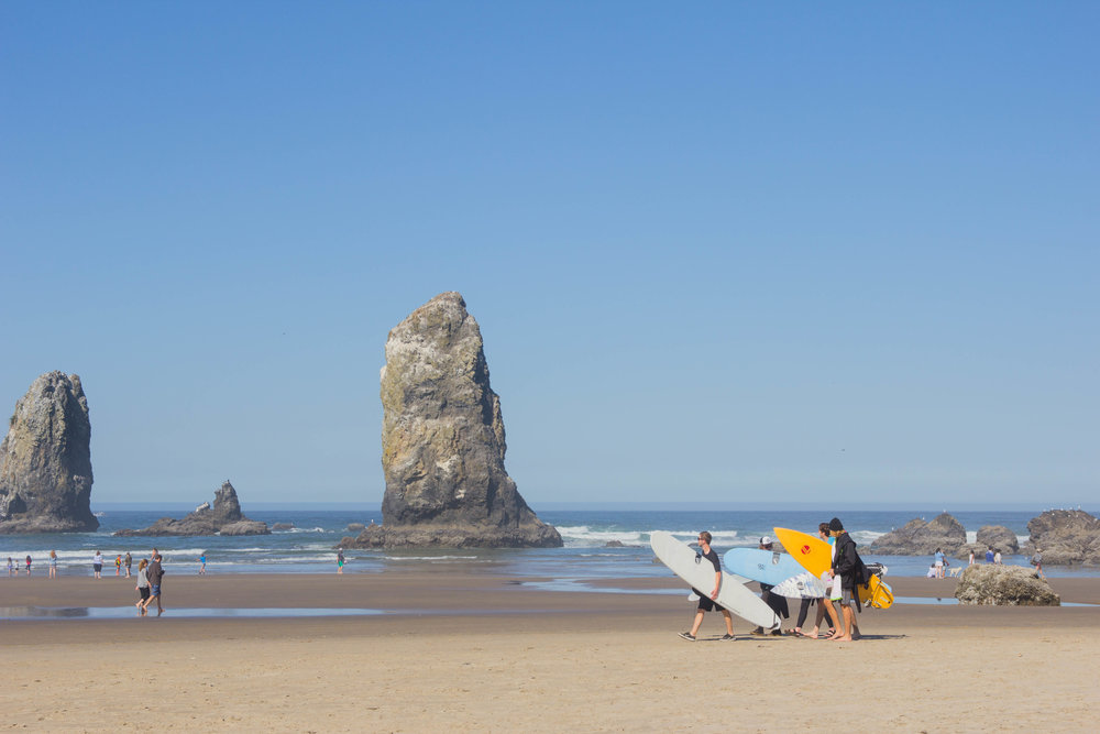 is cannon beach worth the drive, haystack rock, needles in the haystack, oregon, pdx. what to do in cannon beach, oregon coast, pacific northwest, surfers