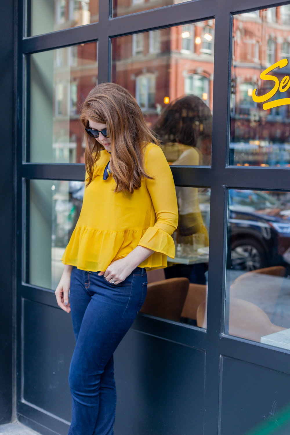 david coe photo, nyfw, cupcakes and cashmere katlyn top in safron yellow, spring 2018 trends, spring summer, new york fashion wee
