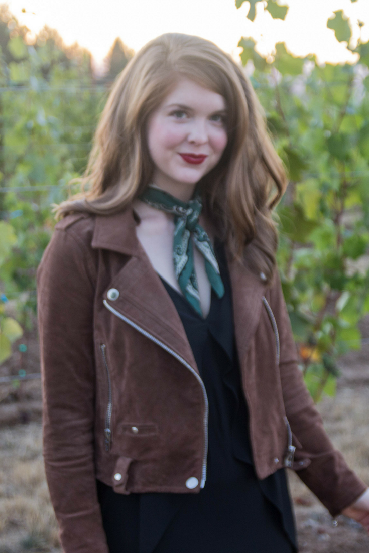 blanknyc suede moto jacket, willamette valley , atthejoy, oregon