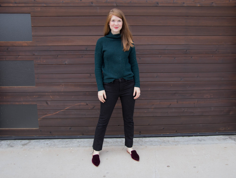 baldwin maxwell crop flares, kc, kansas city fashion, free people ottoman slouchy tunic, madewell gemma mule, chanel rouge coco lipstick, now trending: kick flares