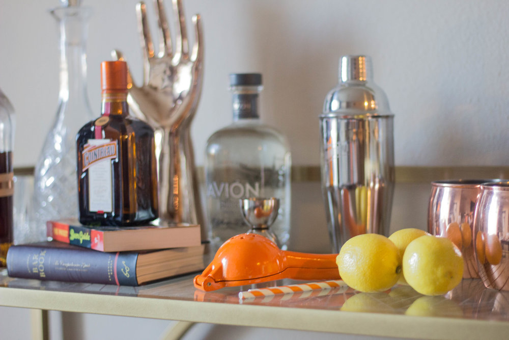minted art, minted home, how to decorate a bar cart gallery wall, home inspo, wall space, cocktail corner, cointreau