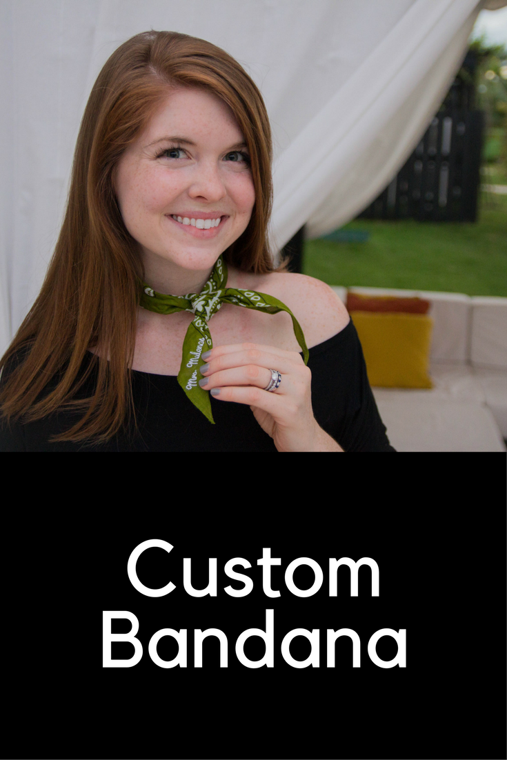 oli rose designs, las terrazas resort, belize, personalized embroidred bandana, custom bandana, dolce vita pacer slides