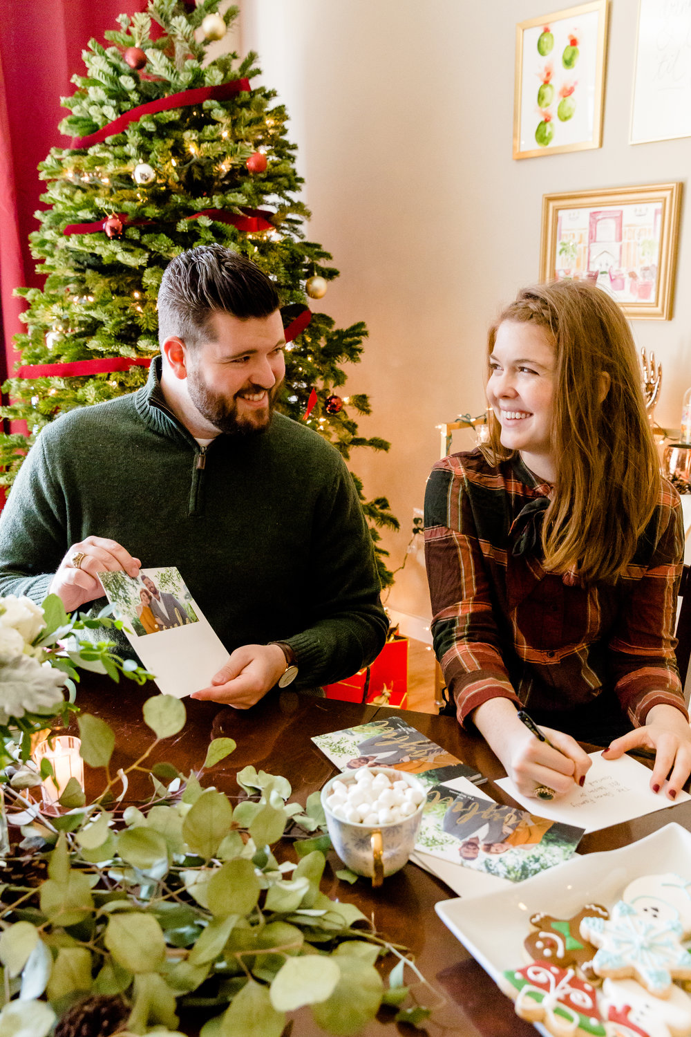 minted christmas cards, where to get christmas cards, where to make christmas cards, madison katlin photography, couples christmas cards