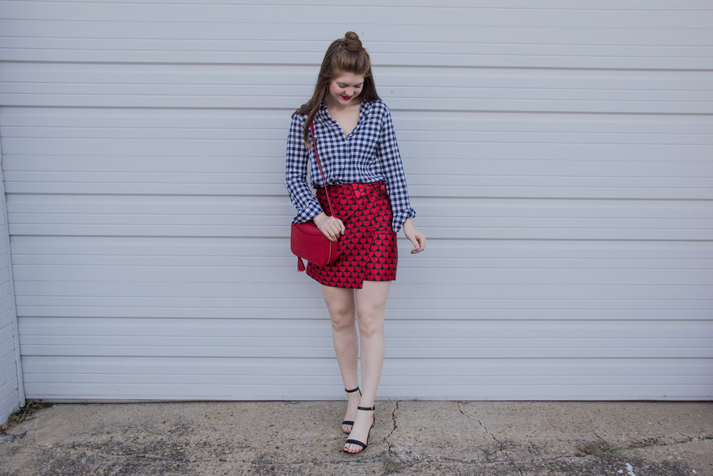 valentine's day gift ideas for her, valentine's day gift ideas for him, j crew castlebar snuggle heart skirt, cuyana mini tassel bag, valentine's day outfit, v-day gift ideas