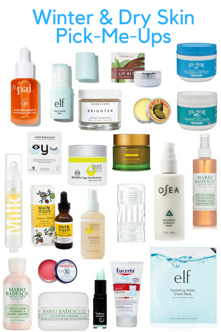 winter and dry skin pick-me-ups, products for dry skin, winter skincare routine, e.l.f. , pai, vital protiens, burt's bees, farmacy, herbivor botanicals, juice beauty, OSEA malibu, mad hippie, milk makeup, mario badescu