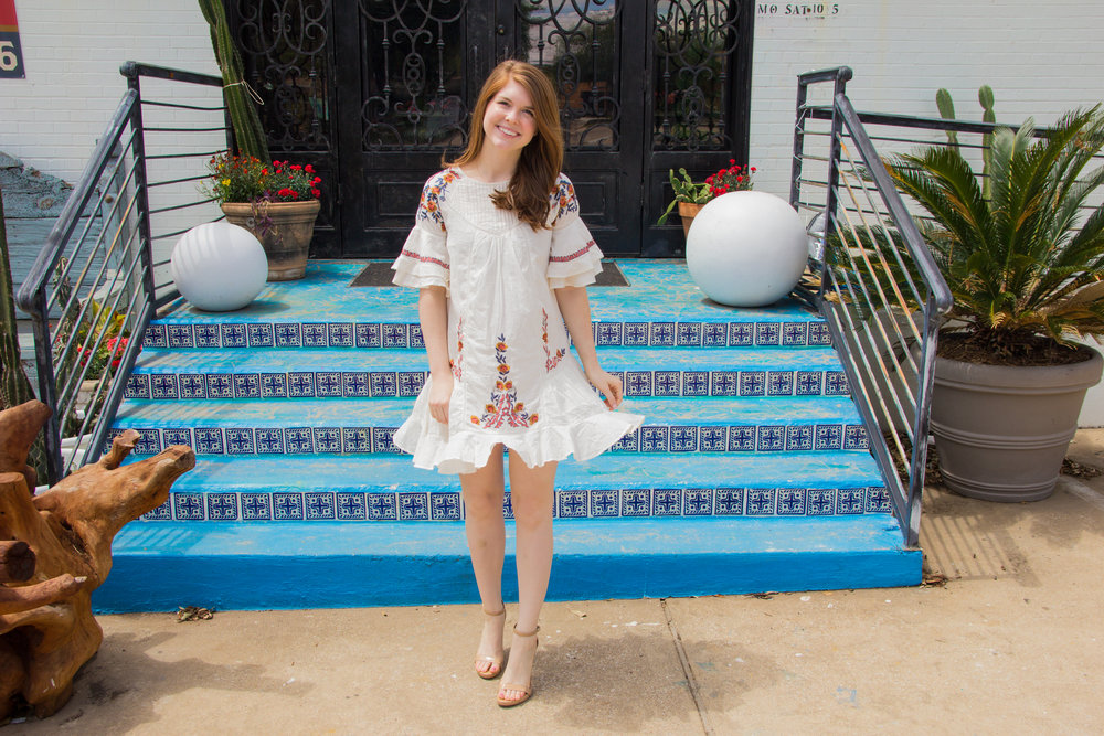 Free People Pavlo Dress, embroidered dress styled 4 ways, lments of style, dallas fashion blogger, ellespann, sam edelman ariella ankle strap sandals