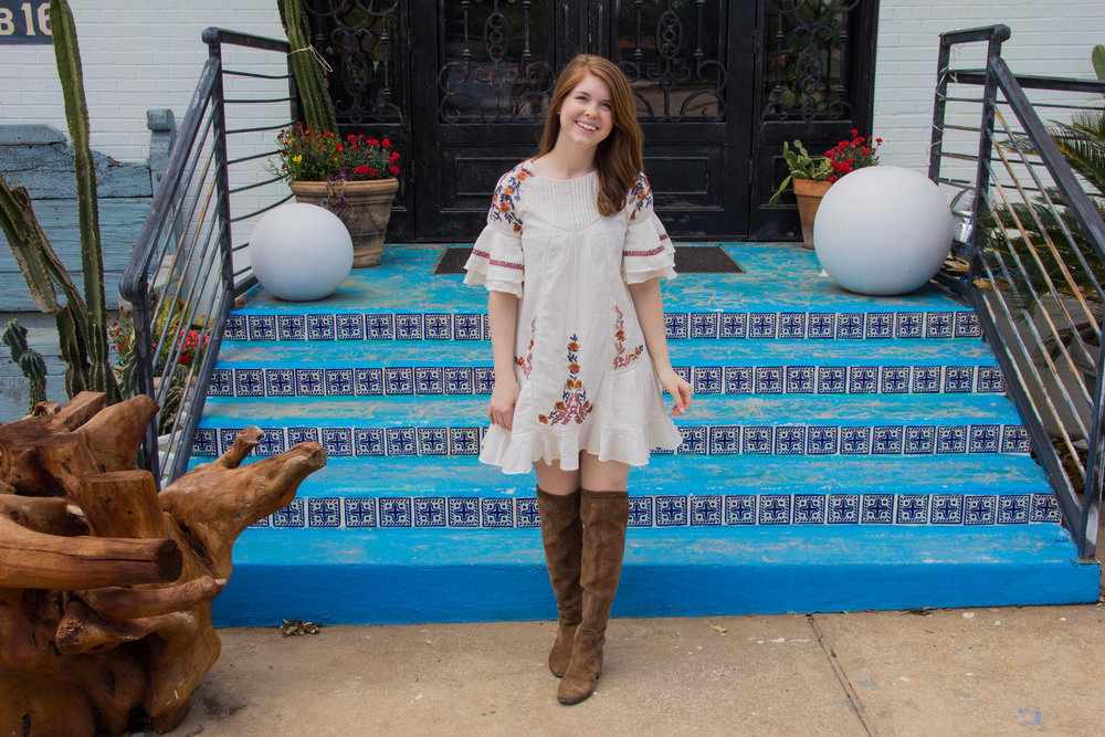 Free People Pavlo Dress, embroidered dress styled 4 ways, lments of style, dallas fashion blogger, ellespann, vince camuto karinda over the knee boots