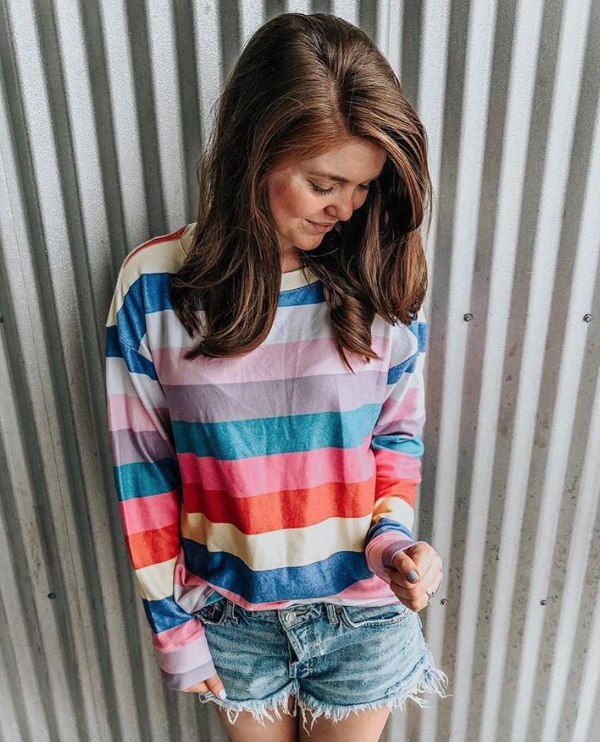 wildfox stripe sweatshirt 4th of july sales