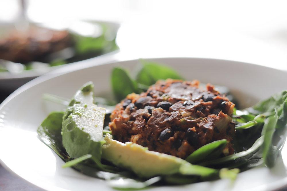 easy plant-based meal ideas, vegetarian dinner ideas, vegan meals, dinner ideas, black bean burgers