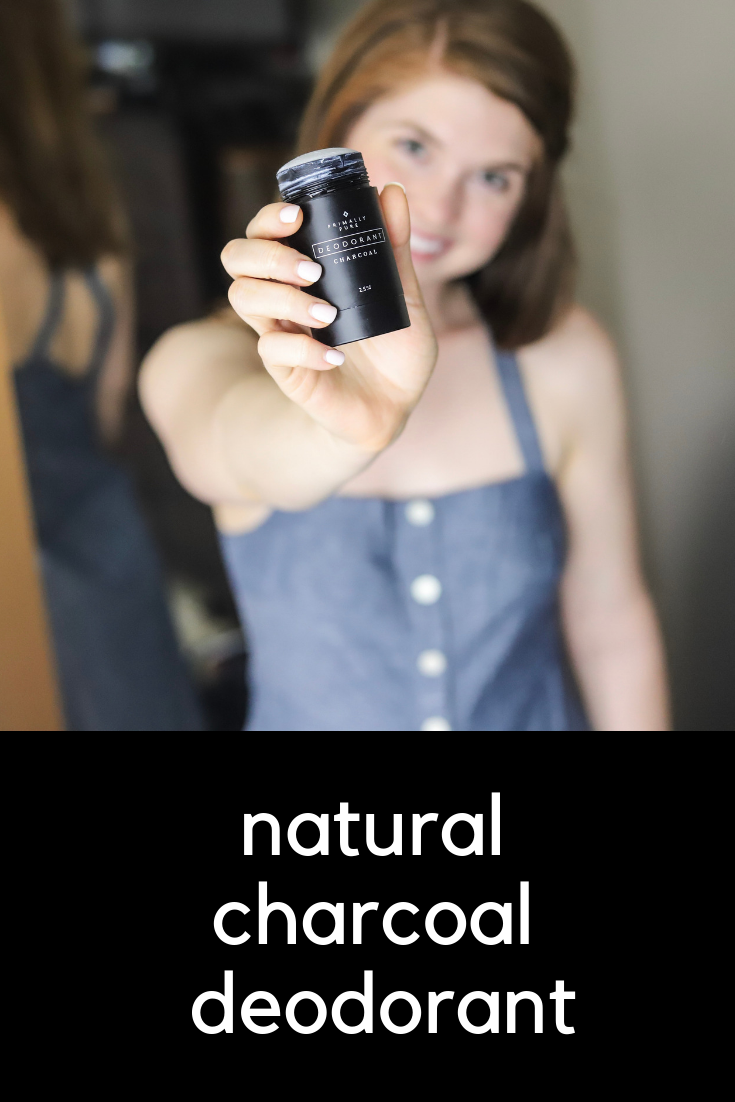 natural charcoal deodorant, primally pure, discount code, nontoxic, cruelty free, activated charcoal. madewell chambray dress