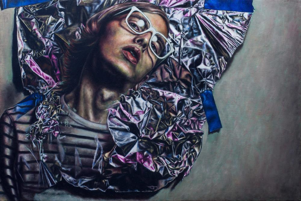 Artist losing himself
