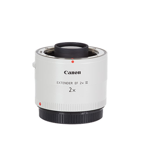 <p><strong>Canon Extender 2x</strong>$40 per day<br>EF Extender 2x III</p>