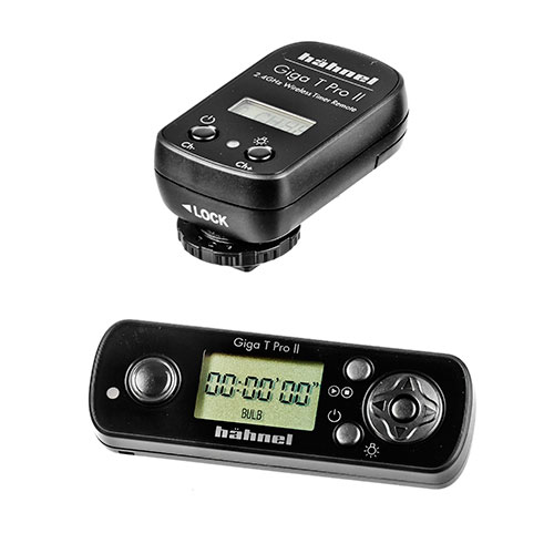 <p><strong>Hahnel Wireless Timer Remote</strong>$20 per day<br>Giga-T Pro II</p>