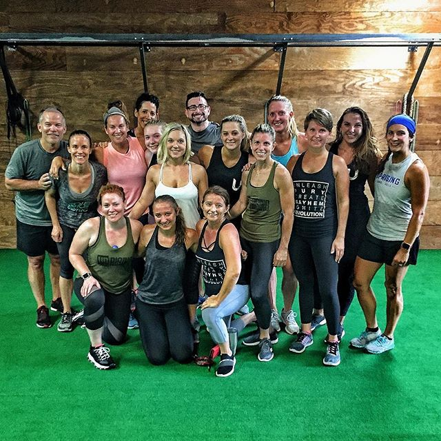 Humbled. I'm just so damn humbled by the support of so many quality people. We had a proper send-off this morning. A little bit of everything; including kettlebells, burpees, The Judge, champagne, bourbon, and dodgeball. What more could you possibly need on a Saturday morning? • I know it has already been said, but THANK YOU for letting us be a part of your lives for awhile. Take care, everyone. 💙