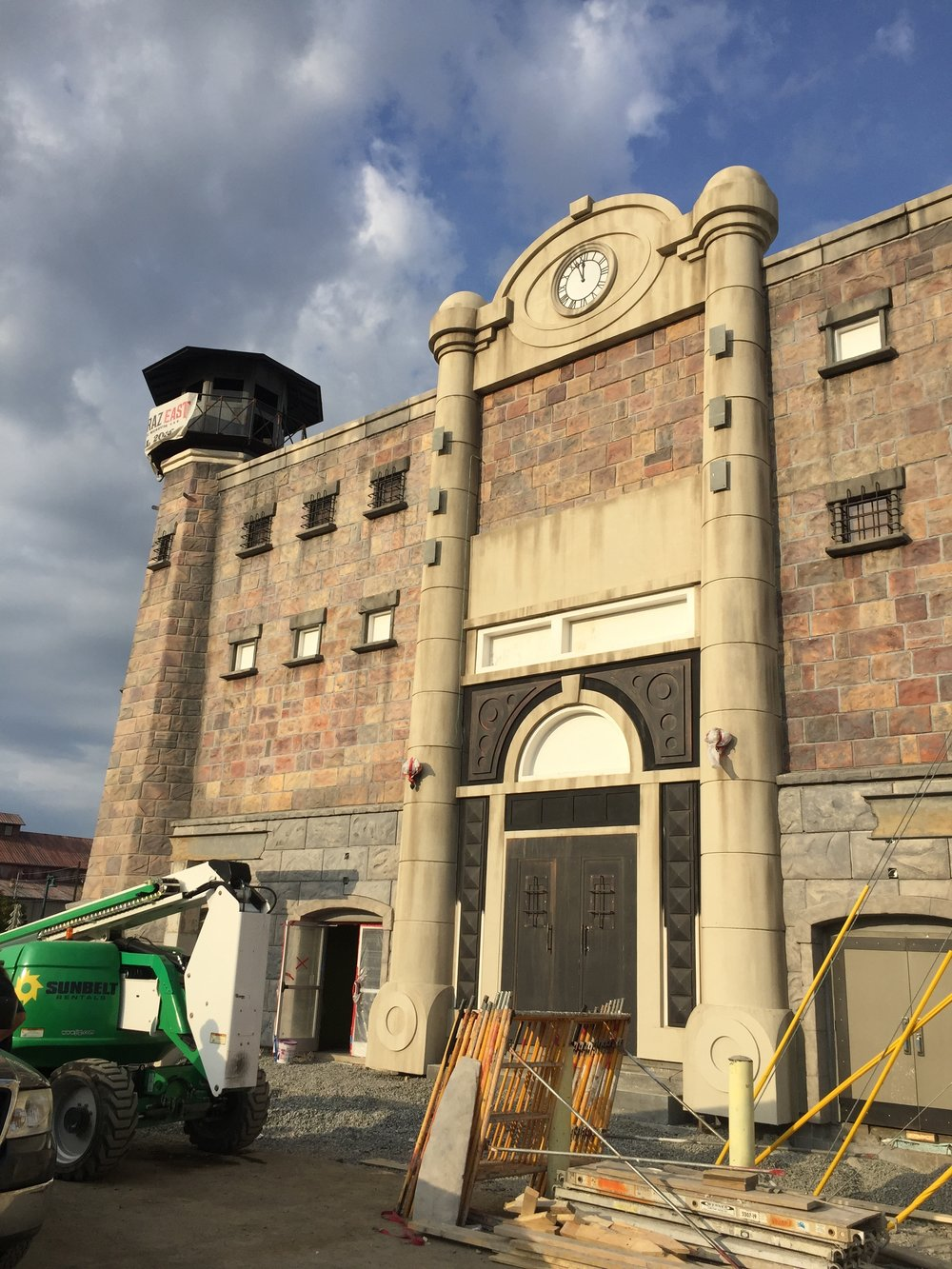 Alcatraz East prison cell in progress.