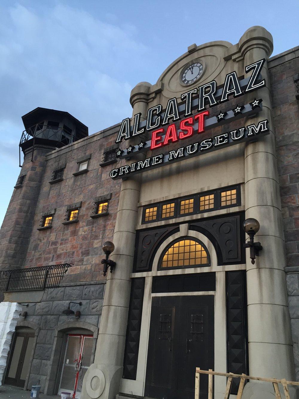 Alcatraz East, in progress.
