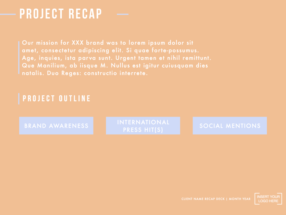 Recap Deck Template   Edge  Project Recap Template