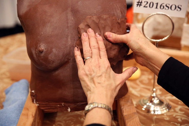 The sculpture lab gives surgeon participants a unique perspective on breast aesthetics, size, shape and symmetry.