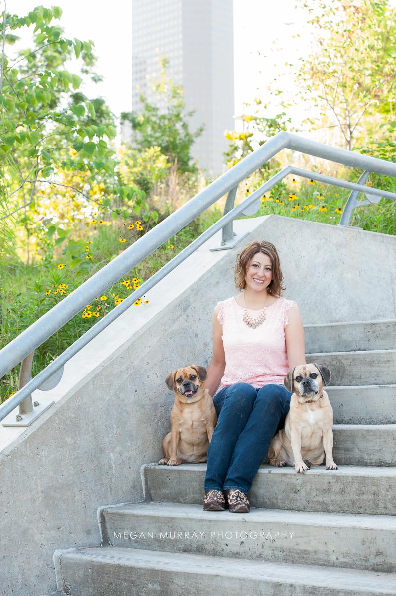 houston pet photographer - pug beagle mix dogs