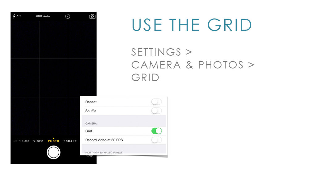 iphone camera grid lines