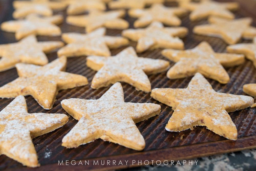 star shaped natural dog cookies