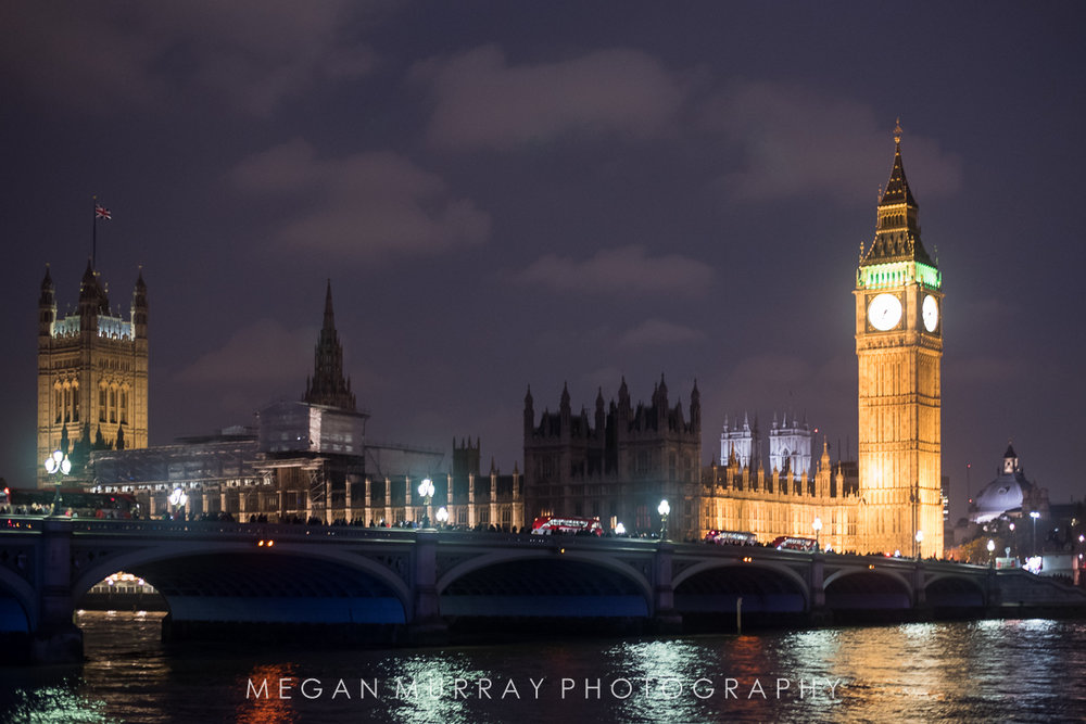 view of Big Ben and Palace of Westminster from Southbank