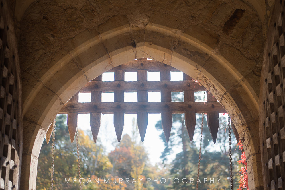 Hever Castle portcullis and drawbridge
