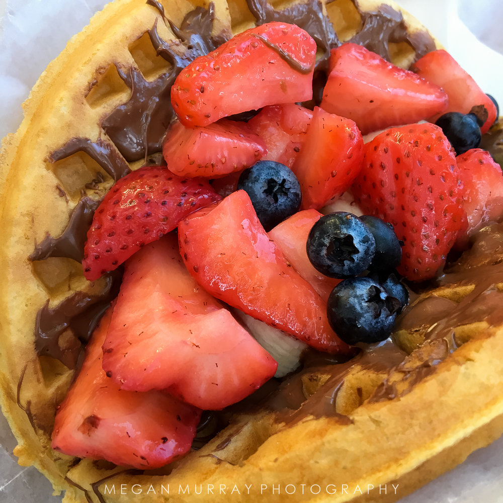 quite possibly one of the most delicious things I've ever eaten:  Nutella fruit waffle in Magic Kingdom