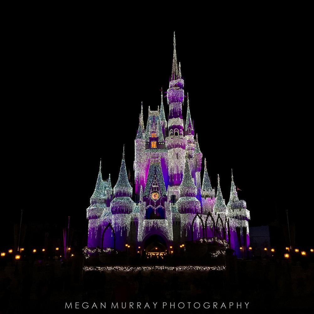 Frozen show at Cinderella's castle in Magic Kingdom