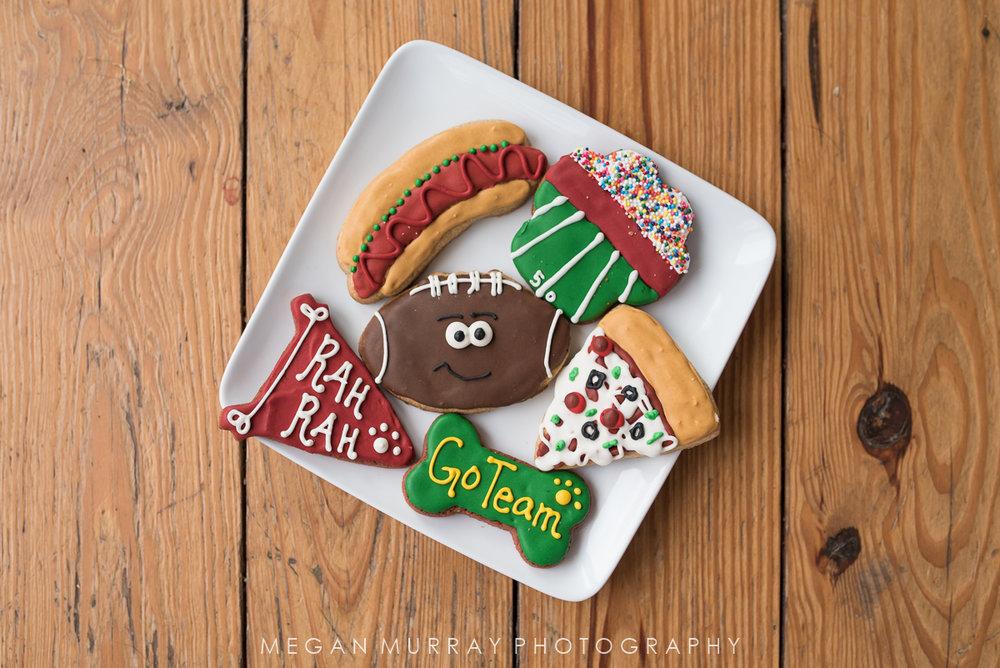 DEX decorated dog cookies