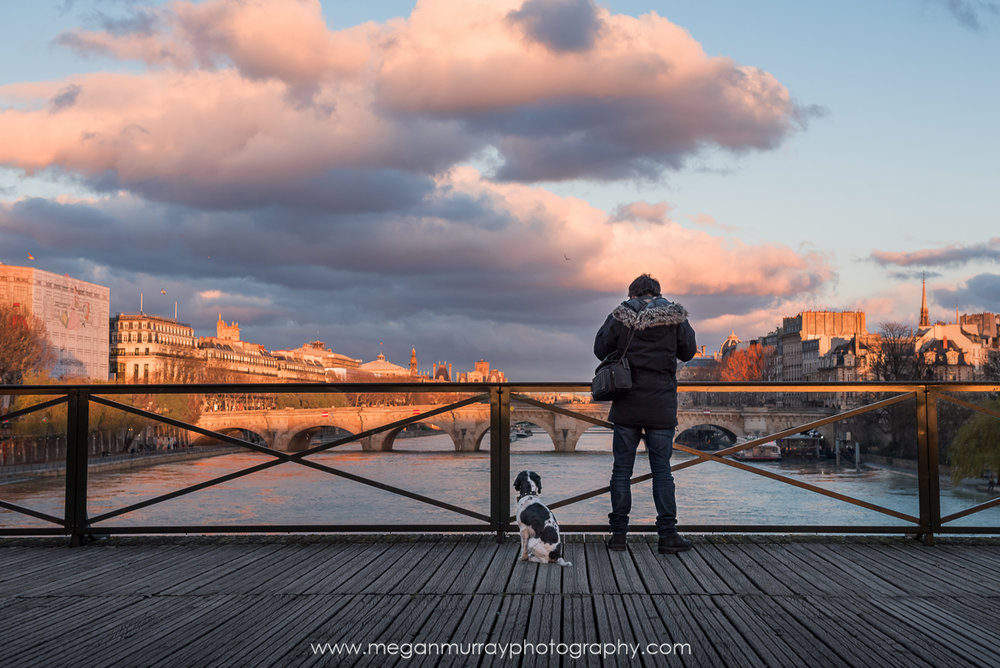 Sunset at the Pont des Arts