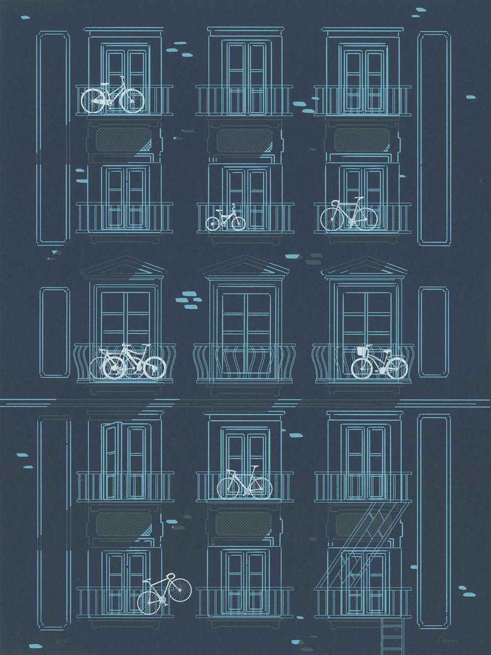 Bikes On Balconies