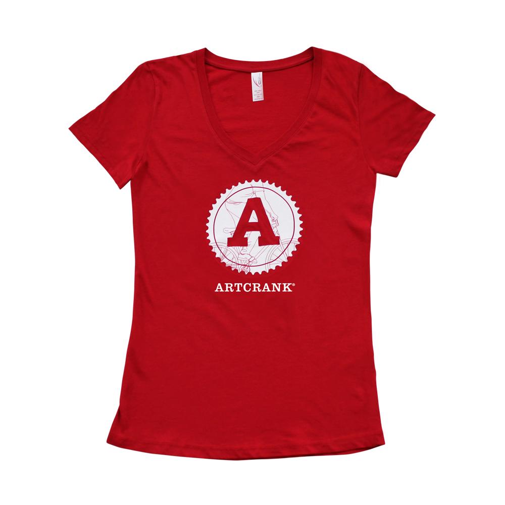 V-Neck T-shirt: Red