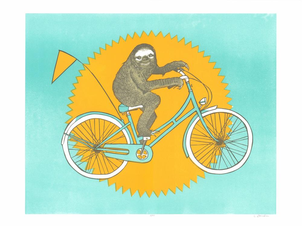 Sloth On A Bike