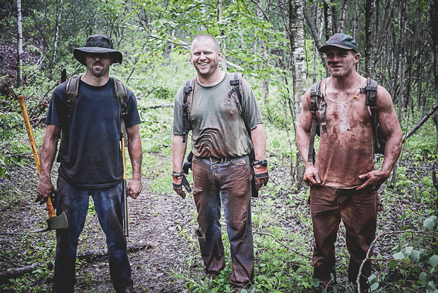 OG members of the Cuyuna trail crew (Photo by Hansi Johnson)