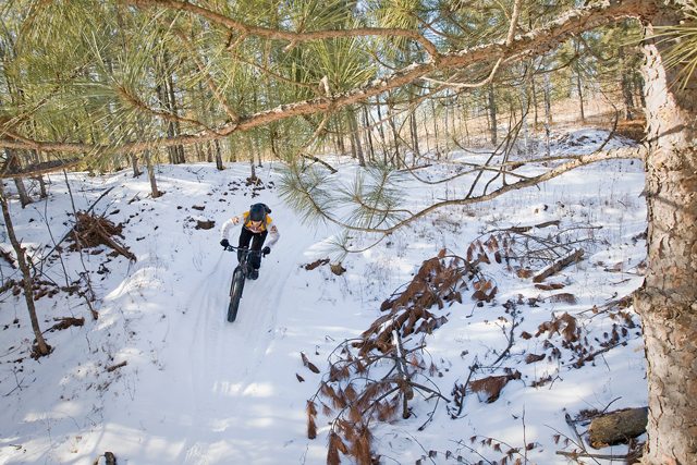The riding at Cuyuna doesn't stop with the snow. (Photo by Aaron Hautala)