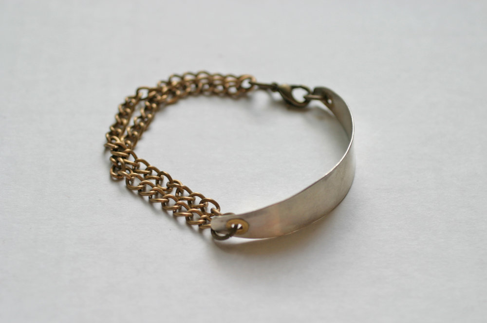 Elizabeth Baird Architecture-Jewelery-silver and brass chain bracelet.jpg