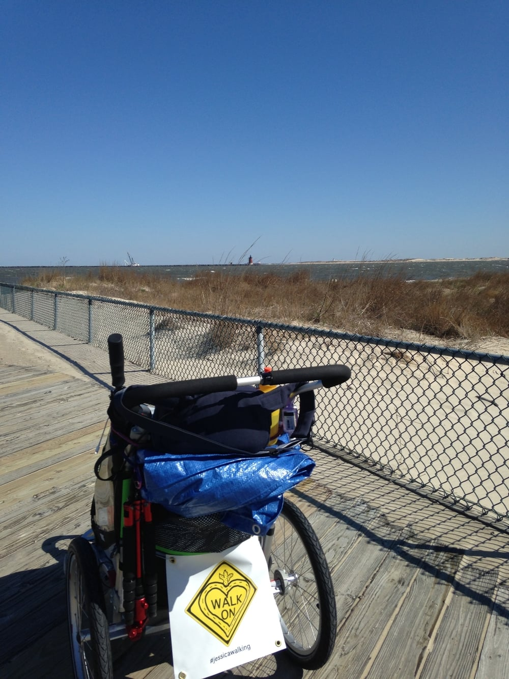 I started April 15th, 2014 on a beach in Henlopen State Park - Lewes, DE. The first few steps with my cart was.... weird.