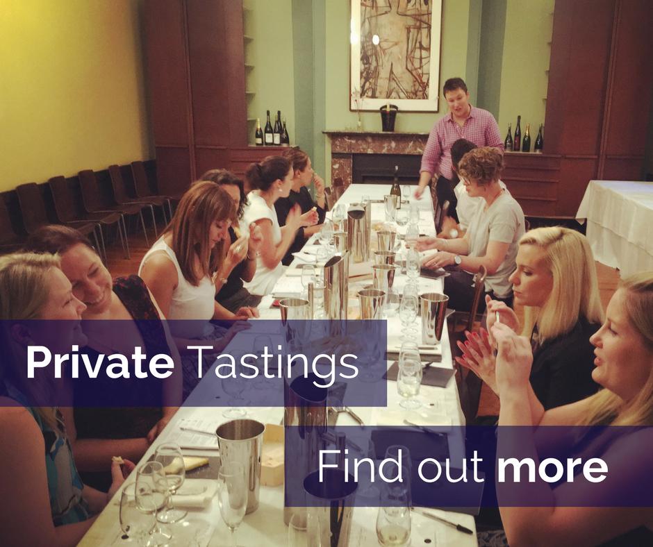 Private wine tastings wine events